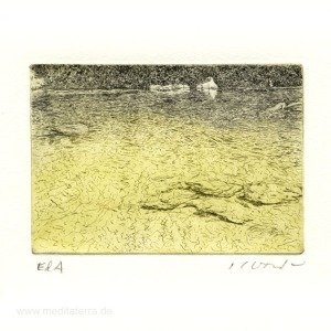 Jan Goede 3, Netherlands, The White Stone, Etching