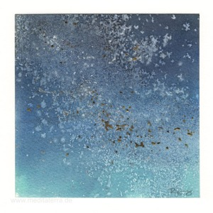 Nathanael Christopher Rigney 2, USA, Night Sky, Watercolor Gilding, 2015