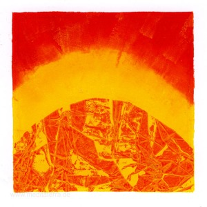 Nelly Arias, Image 3, Argentina, Yellow And Red, Relief Printing, 2015