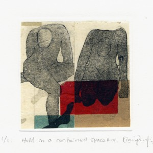 April Ng Kiow Ngor 1, Singapore, Hold in a Contained Space #01, 2017, Etching with Chine Collee, 17 x 18 cm