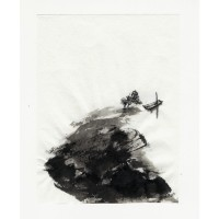 Yuan Wang, 2, China, Unmanned Boat, 2016, Ink Painting, 13 x 9,8 cm