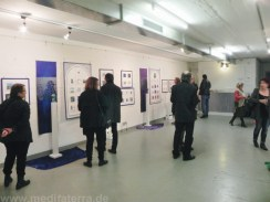 Miniprint exhibition in Cologne, Germany, mixed media, exlibris, color and meditation