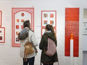 Miniprint and mixed media art installations in Germany
