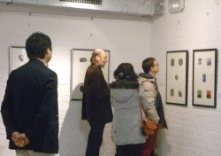 In the solo exhibition of Takanori Iwase