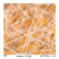 Lisa Graham 3, United States, Interlace in Orange, 2017, Digital Print, 14 x 14 cm