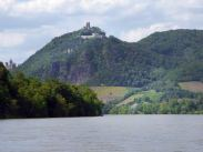 Drachenfels in Königswinter on the opposite bank of the river