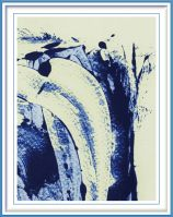 Adelheid Niepold 1, Germany, Fluss des Lebens, 2000, Digital Processing of Monotypes, 30 x 40 cm