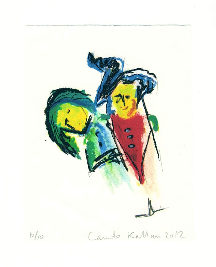 Canuto Kallan 1, Greece, Friendship, 2012, Screen Print, 20 x 15,5 cm