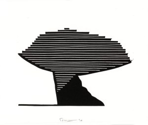 Frans Baake 1,The The Netherlands, Es-Cape, 2016, Linocut, 25 x 20 cm