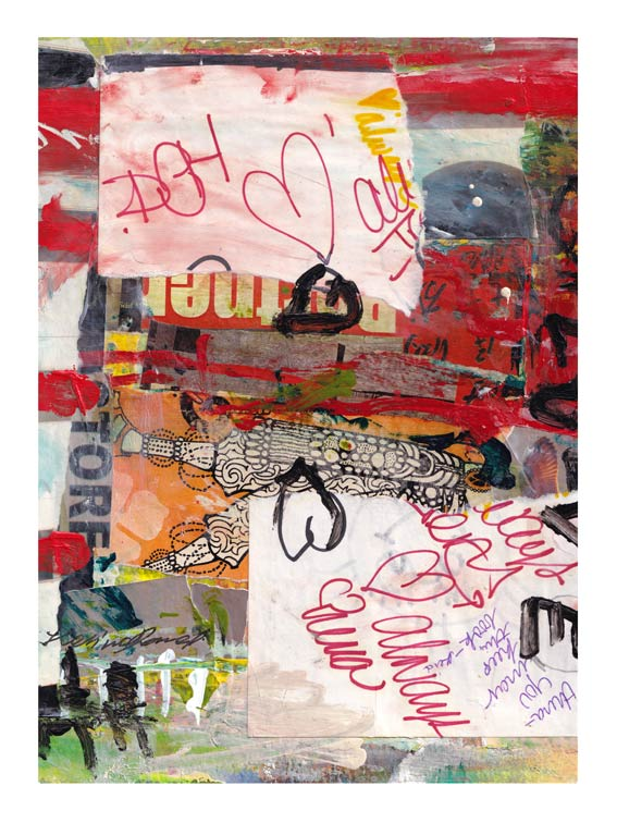 Halina Domanski 1, USA, Love is Dangerous, 2019, Collage on Paper, 20 x 28 cm