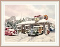 James Pfeffer 1, USA, Mabel's Diner, 2002, Watercolor, 508 x 406 cm