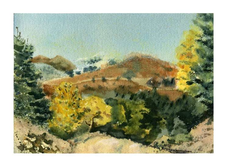 Maria Argyrakopoulou 2, Greece, Autumn, 2013, Aquarelle, 20 x 29 cm