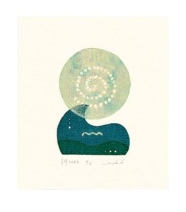 Mika Kuroki 2, Japan, Moonlight, 2015, Screenprinting, 21,0 x 14,8 cm