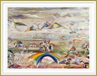 Tatiyana Kraevskaya 1, USA, Over The Rainbow, 2002, Oil on Canvas, 76,2 x 101,6 cm