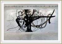 Ivana Gagić Kičinbači 1, Croatia, Story from the Beginning, 2019, Indian Ink on paper, 570 x 220 cm